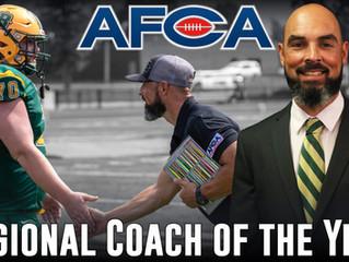 Mangone Named AFCA Regional Coach of the Year