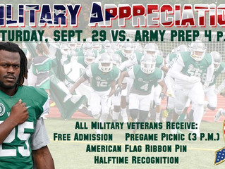 Football to Hold Military Appreciation Day this Saturday