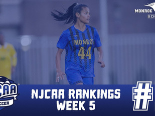 Monroe Mustangs Women's Soccer Stays at No. 1 in NJCAA Rankings after Week off