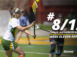 Women's Lacrosse Stays at No. 8/12 in National Polls