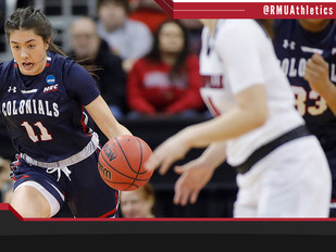 SEASON ENDS FOR ROBERT MORRIS WBB AT NO. 5 LOUISVILLE IN THE NCAA FIRST ROUND