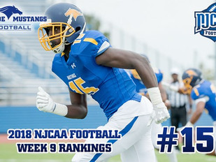 Monroe Football Moves up to No. 15 in NJCAA Rankings