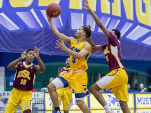Monroe Mustangs Men's Basketball Races Past SUNY Sullivan 97-53, in Final Game of Regular Season