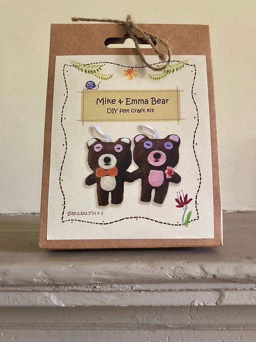 Mike & Emma Bear DIY Felt Craft Kit