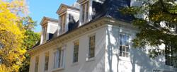 autumn mansion corner lanscape