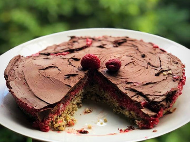 Raw Raspberry Slice