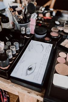 Abbie Hartland Makeup Artist at work, tools of the trade.