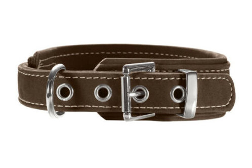 Hunter Dog Collar Hunting Comfort Made from Nubuck-Leather