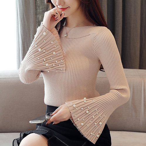 Flare Long Sleeve Women Tops Pullover Sweater 2020