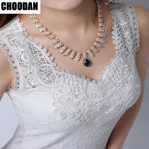 Tank Top Women Fitness Elegant Flower Embroidery Lace Blouse 2018 New Fashion