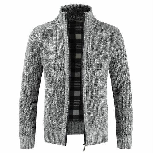 NEGIZBER 2019 Autumn Winter New Men's Jacket Slim Fit Stand Collar Zipper Jacket