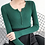 Thumbnail: Single Breasted Women Full Sleeve Button V-Neck Sweater 2020 New Knitted Basic