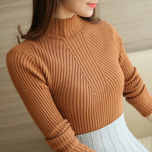 Winter Long Sleeve Turtleneck Pullovers Womens Sweaters