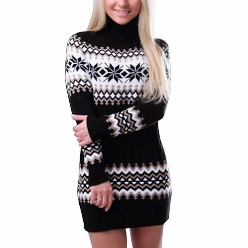 WENYUJH 2020 Autumn Winter Sweater Women Long Sleeve Sweater Dress