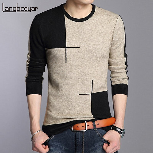 2020 New Autumn Winter Brand Clothing Sweater Men Fashion Breathable Slim Fit