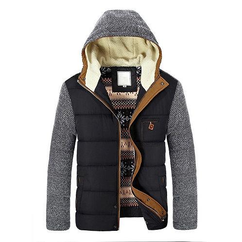 Men's Warm Parkas Thick Fleece Cotton Coats Slim