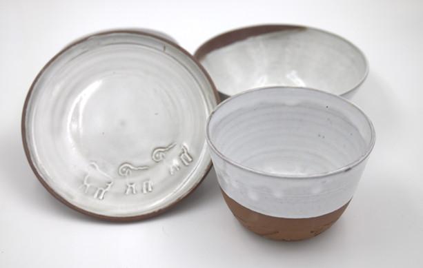 Neulengbacher Keramik, Schalen 19,- und 23,-und Teller 19,-