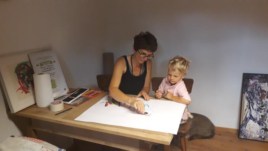 Maltherapie mit Kindern