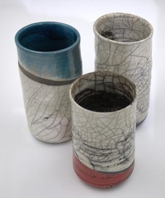 Raku-Vasen 45,-/Stück