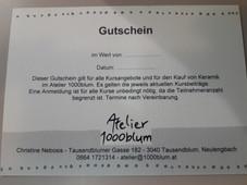 Gutschein Atelier 1000blum