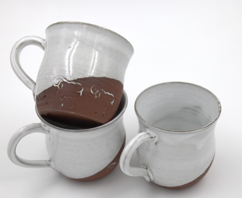 Neulengbacher Keramik, Tassen, ca. 1/4l: 17,-/Stück
