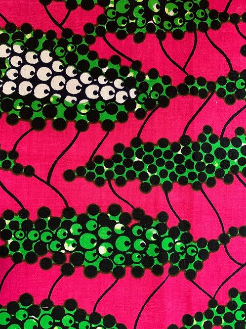 Pink & green multi print