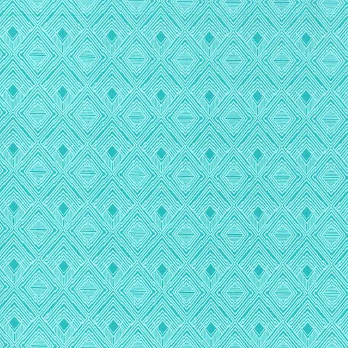 Teal Diamond fabric