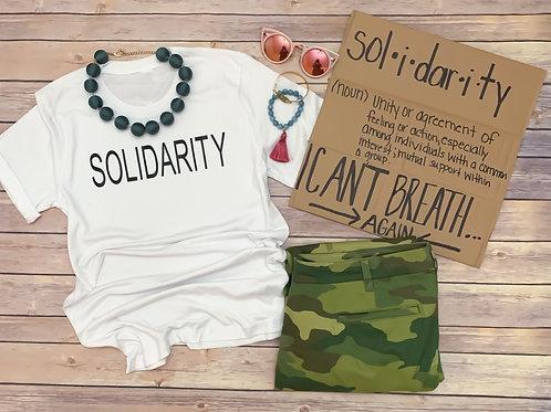 Solidarity tee (unisex look & fit)