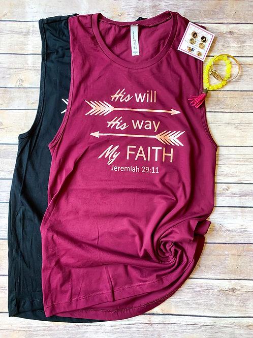 My Faith Muscle Tank Jeremiah 29:11