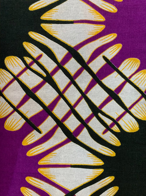Purple, black and gold African print