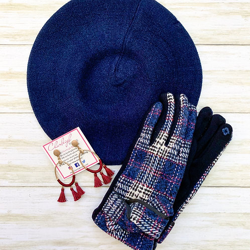 Claudia Set (navy) Hat & Glove