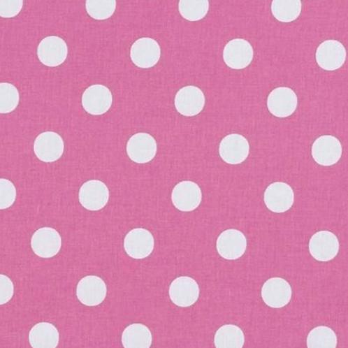Pink and white polka dot