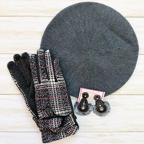 Claudia Set (grey) Hat & Glove