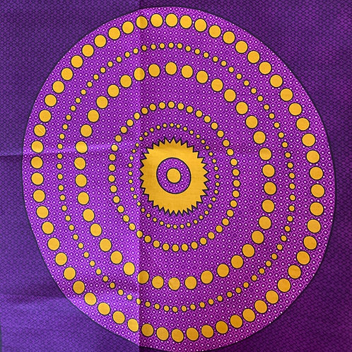 Purple and gold circle print