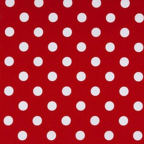Red and white large polka dot