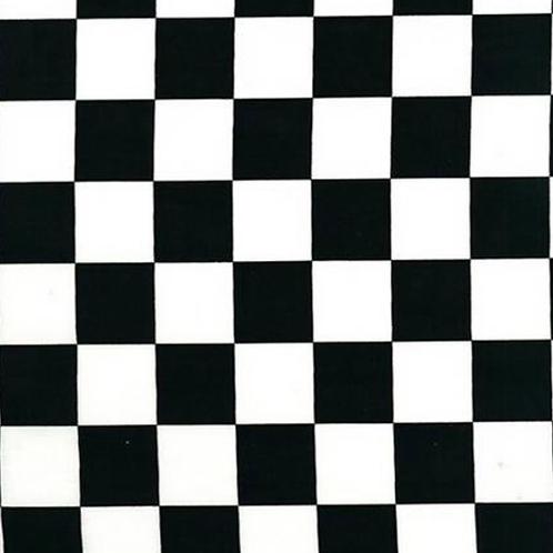 Black & white racer check