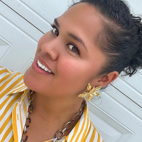 Flora Button Earrings