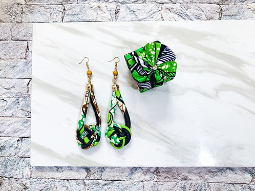 African Knot Earring