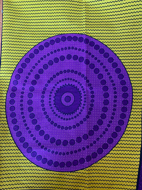 Purple & gold circle print