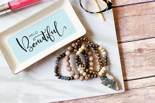Nadia bracelet stack