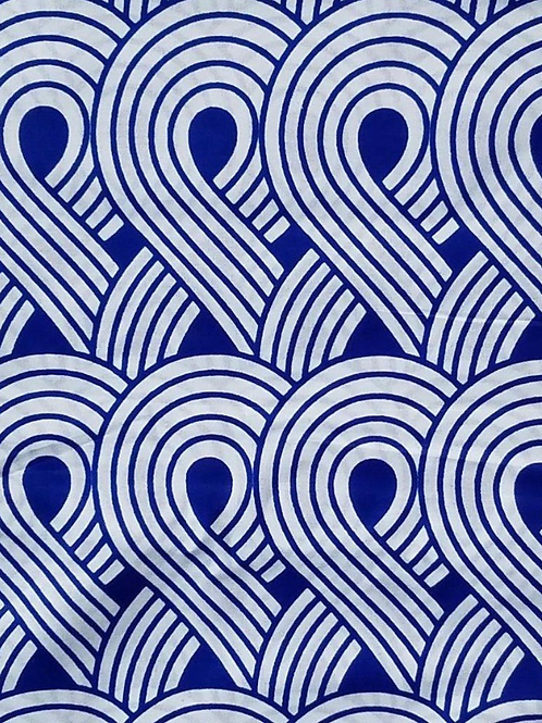 Blue and White Ankara Fabric