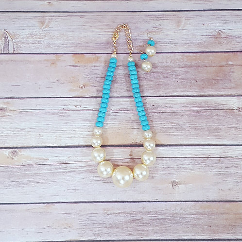 Turquoise and Pearl (set)
