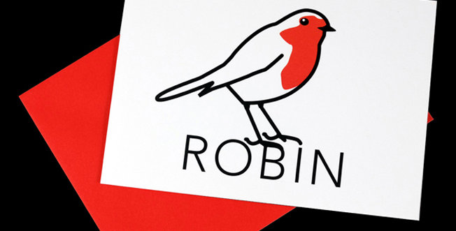 Robin Cards - pack of 5