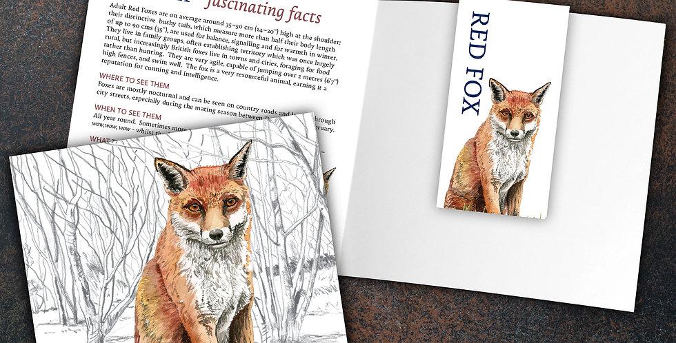 Fox Card & Bookmark