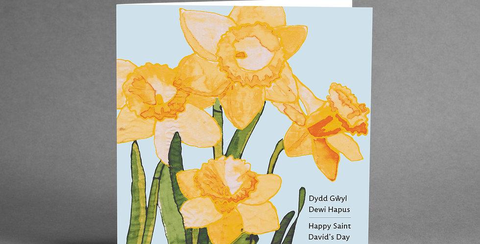 Welsh Daffodil St Davids Card