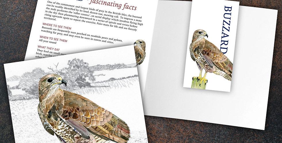 Buzzard Card & Bookmark