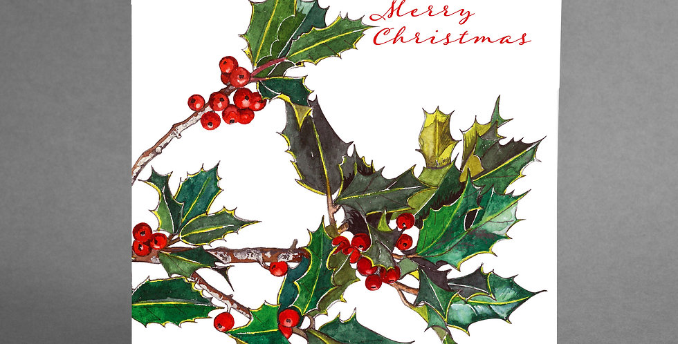 Holly Cards Pack of 6