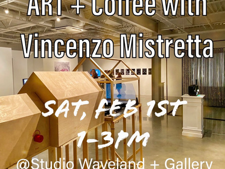 Please join us this Saturday, Feb 1st 1-3pm for ART + Coffee  at Studio Waveland + Gallery.
