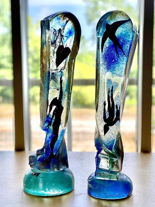 Mitchell Gaudet- Cast glass houses #10 & #11