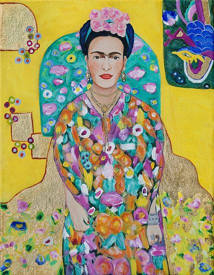 Cheryl Anne Grace:Channeling Klimt-Frida (yellow)